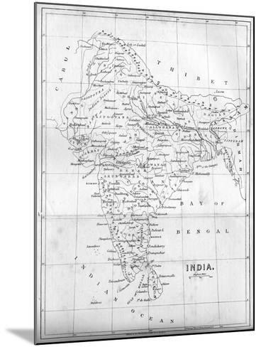Map of India, 1847--Mounted Giclee Print