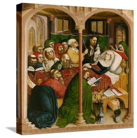 The Death of Mary. the Wings of the Wurzach Altar, 1437-Hans Multscher-Stretched Canvas Print