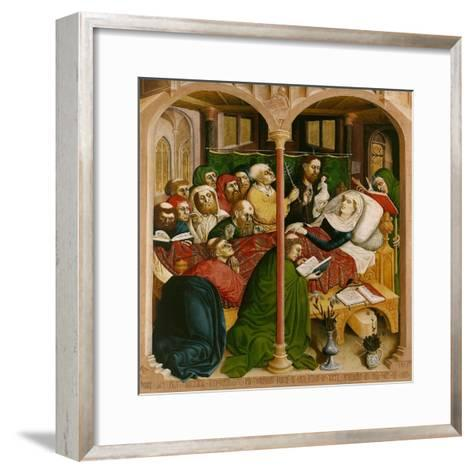 The Death of Mary. the Wings of the Wurzach Altar, 1437-Hans Multscher-Framed Art Print
