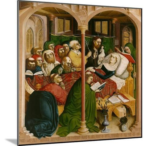 The Death of Mary. the Wings of the Wurzach Altar, 1437-Hans Multscher-Mounted Giclee Print