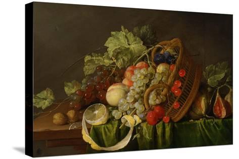 Still Life with a Basket of Fruit, Ca 1654-Cornelis de Heem-Stretched Canvas Print