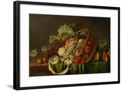 Still Life with a Basket of Fruit, Ca 1654-Cornelis de Heem-Framed Art Print