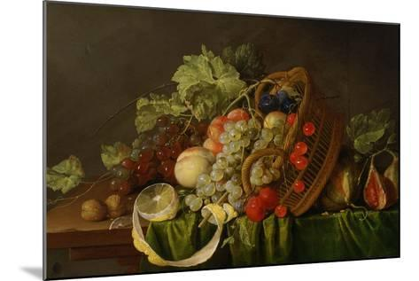 Still Life with a Basket of Fruit, Ca 1654-Cornelis de Heem-Mounted Giclee Print