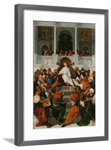 The Twelve-Year-Old Jesus Teaching in the Temple, 1524-Ludovico Mazzolino-Framed Art Print