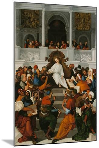 The Twelve-Year-Old Jesus Teaching in the Temple, 1524-Ludovico Mazzolino-Mounted Giclee Print
