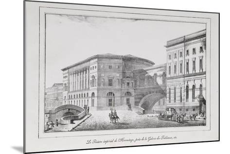 The Hermitage Theatre in Saint Petersburg (Series Views of Saint Petersbur), 1820S-Alexander Pluchart-Mounted Giclee Print