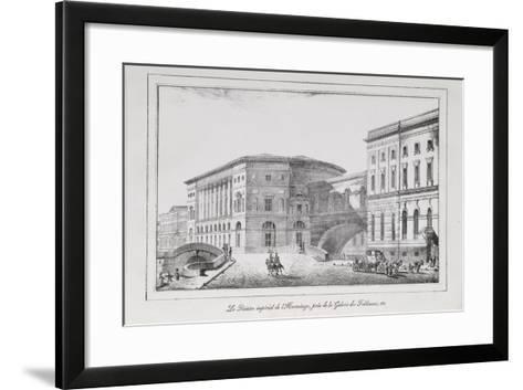 The Hermitage Theatre in Saint Petersburg (Series Views of Saint Petersbur), 1820S-Alexander Pluchart-Framed Art Print
