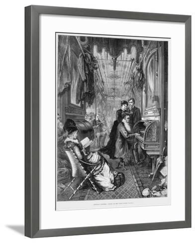 Sunday Morning on the Union Pacific Railroad, USA, 1875--Framed Art Print