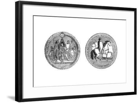 The Great Seal of King William IV, C1895--Framed Art Print