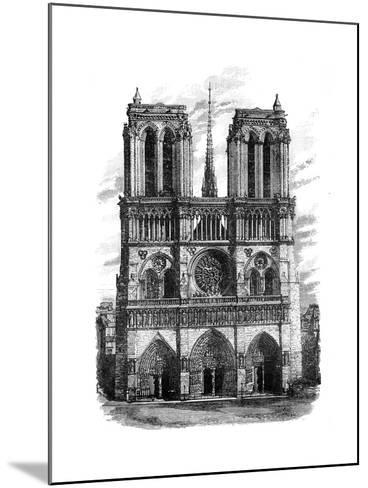 Notre Dame, Paris, C1888--Mounted Giclee Print