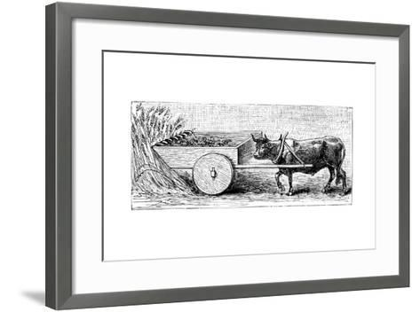 Reconstruction of Reaping Machine Used in Gaul in Ancient Roman Times, as Described by Pliny, C1890--Framed Art Print