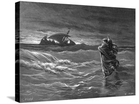 Jesus Walking on the Water, 1866--Stretched Canvas Print