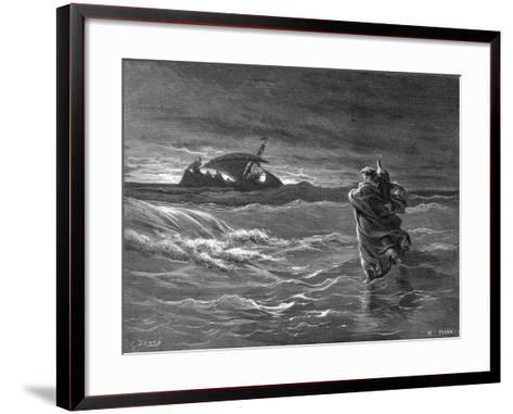 Jesus Walking on the Water, 1866--Framed Art Print