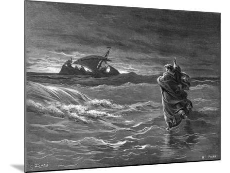 Jesus Walking on the Water, 1866--Mounted Giclee Print