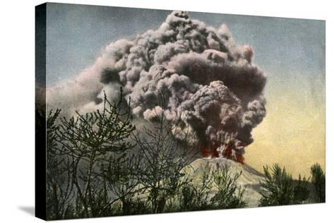 Eruption of Vesuvius, Italy, April 1906--Stretched Canvas Print