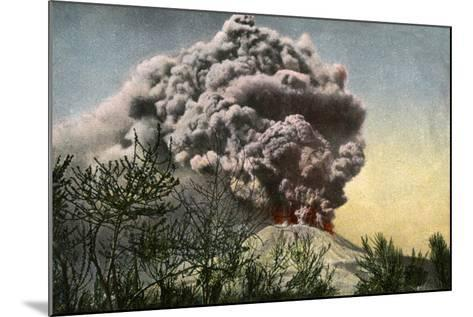 Eruption of Vesuvius, Italy, April 1906--Mounted Giclee Print