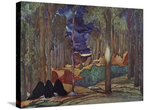 Stage Design for the Play the Martyrdom of St. Sebastian by Gabriele D'Annuzio, 1922-L?on Bakst-Stretched Canvas Print