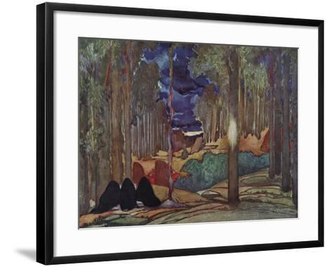 Stage Design for the Play the Martyrdom of St. Sebastian by Gabriele D'Annuzio, 1922-L?on Bakst-Framed Art Print
