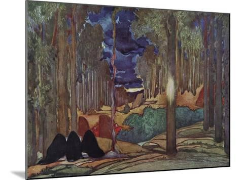 Stage Design for the Play the Martyrdom of St. Sebastian by Gabriele D'Annuzio, 1922-L?on Bakst-Mounted Giclee Print