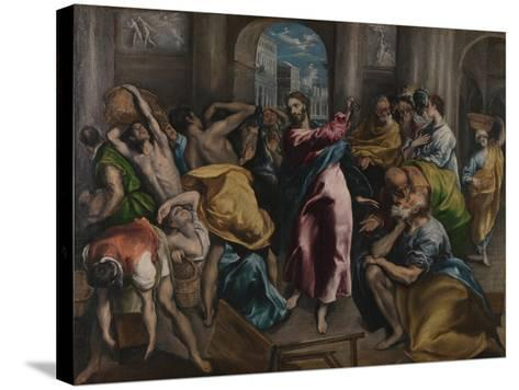 Christ Driving the Traders from the Temple, Ca. 1600-El Greco-Stretched Canvas Print