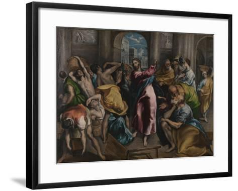 Christ Driving the Traders from the Temple, Ca. 1600-El Greco-Framed Art Print