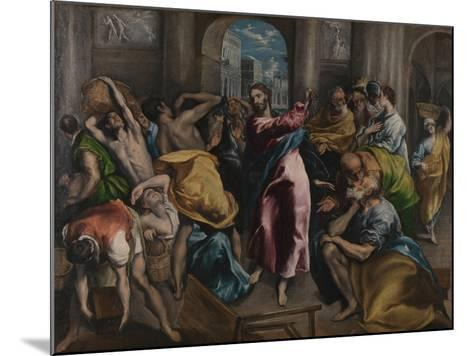 Christ Driving the Traders from the Temple, Ca. 1600-El Greco-Mounted Giclee Print