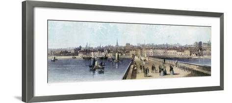 Ryde from the Pier, Isle of Wight, 19th Century--Framed Art Print