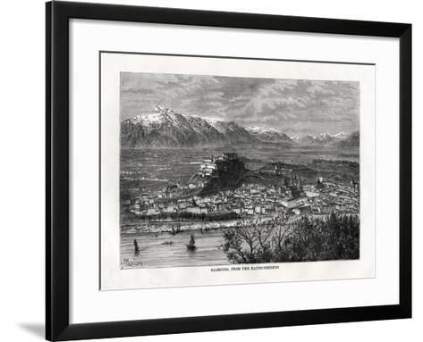 Salsburg, from the Kapuzinerberg, Austria, 19th Century-Taylor-Framed Art Print