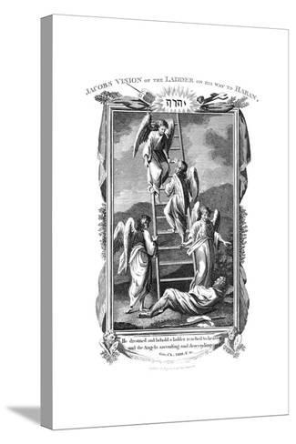 Jacob's Dream of Angels Ascending and Descending the Ladder to Heaven, C1808--Stretched Canvas Print