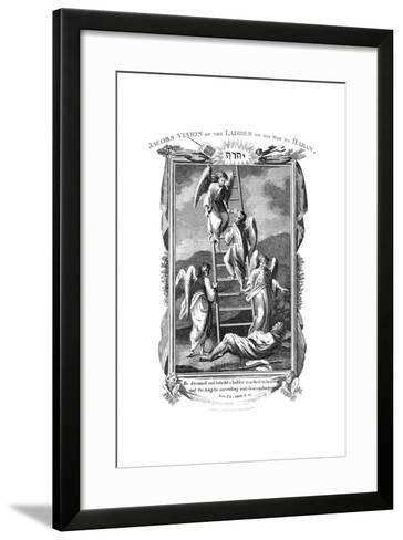 Jacob's Dream of Angels Ascending and Descending the Ladder to Heaven, C1808--Framed Art Print