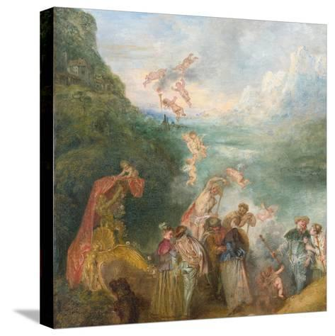 Pilgrimage to Cythera (Embarkation for Cyther) Detal: Putti, 1717-Jean Antoine Watteau-Stretched Canvas Print