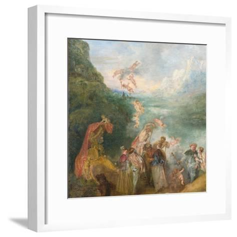 Pilgrimage to Cythera (Embarkation for Cyther) Detal: Putti, 1717-Jean Antoine Watteau-Framed Art Print
