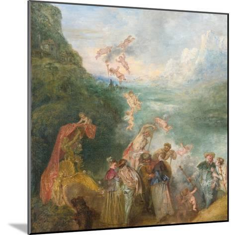 Pilgrimage to Cythera (Embarkation for Cyther) Detal: Putti, 1717-Jean Antoine Watteau-Mounted Giclee Print