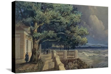 Terrace in the Monplaisir Palace, Peterhof, 1847-Alexander Matveyevich Dorogov-Stretched Canvas Print