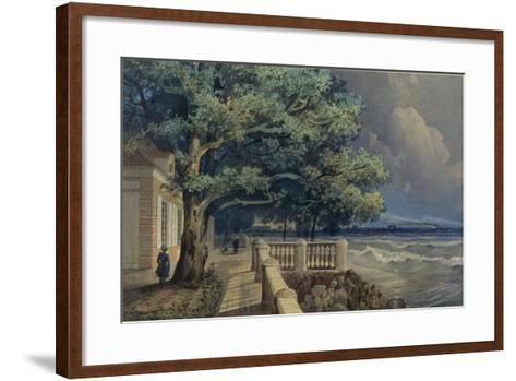 Terrace in the Monplaisir Palace, Peterhof, 1847-Alexander Matveyevich Dorogov-Framed Art Print