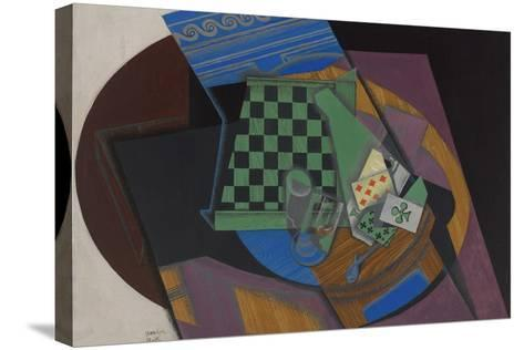 Checkerboard and Playing Cards, 1915-Juan Gris-Stretched Canvas Print