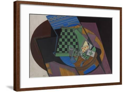 Checkerboard and Playing Cards, 1915-Juan Gris-Framed Art Print