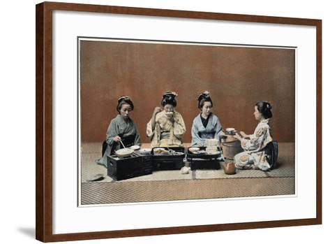 A Dining Room, C1890--Framed Art Print