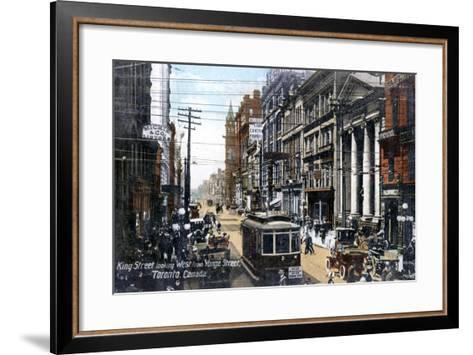 Looking West Along King Street, Toronto, Canada, C1900s--Framed Art Print