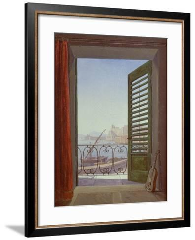 Balcony Room with a View of the Bay of Naples, C. 1829-Carl Gustav Carus-Framed Art Print