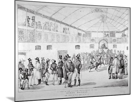 Auction Rooms at Aldridge's Horse Repository, St Martin's Lane, Westminster, London, 1824--Mounted Giclee Print