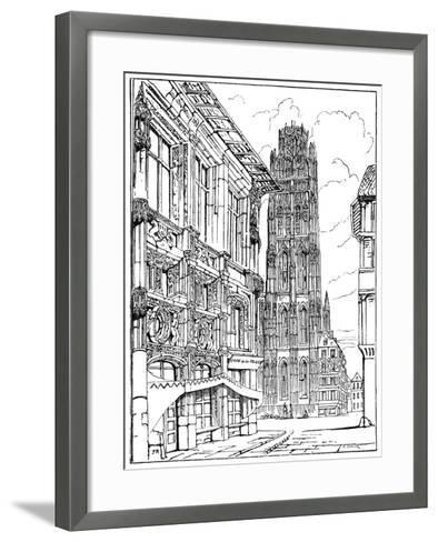 The Cathedral Spire, Rouen, 1835-John Ruskin-Framed Art Print