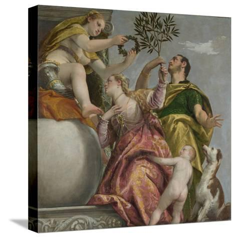 Happy Union (From: Four Allegories of Lov), Ca. 1575-Paolo Veronese-Stretched Canvas Print