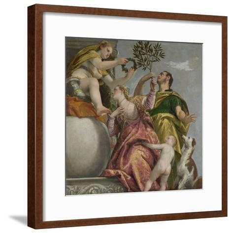 Happy Union (From: Four Allegories of Lov), Ca. 1575-Paolo Veronese-Framed Art Print