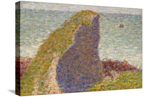 Le Bec Du Hoc, Grandcamp (Stud), 1885-Georges Seurat-Stretched Canvas Print