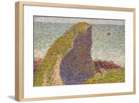 Le Bec Du Hoc, Grandcamp (Stud), 1885-Georges Seurat-Framed Art Print