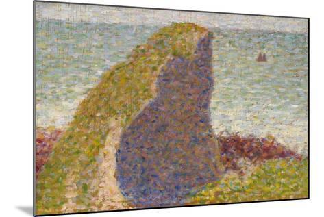 Le Bec Du Hoc, Grandcamp (Stud), 1885-Georges Seurat-Mounted Giclee Print
