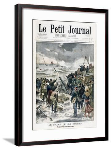 Attempts at Rescue, 1901--Framed Art Print
