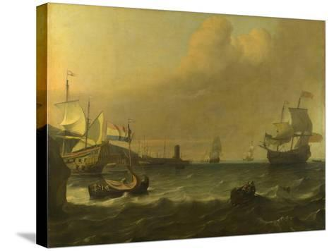 Dutch Men-Of-War Entering a Mediterranean Port, 1681-Ludolf Bakhuizen-Stretched Canvas Print