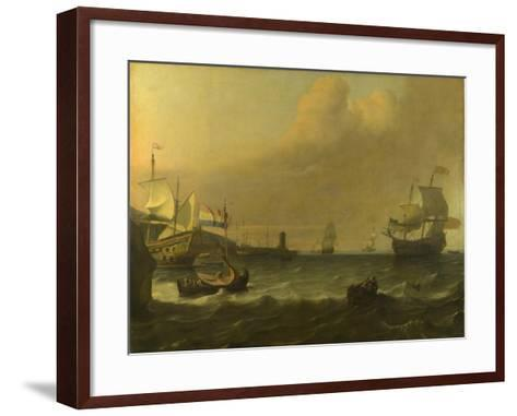 Dutch Men-Of-War Entering a Mediterranean Port, 1681-Ludolf Bakhuizen-Framed Art Print